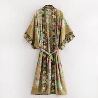 Buy cheap Wholesales Floral Print Rayon Cotton Bohemian Kimonos For Women from wholesalers