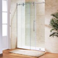 Buy cheap Simple Painting Tempered Glass Sliding Bathroom Shower Enclosure product