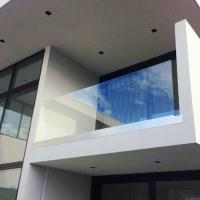 Buy cheap Aluminum U channel base frameless glass railing for indoor and outdoor product