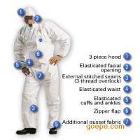 Buy cheap Breathable White Disposable Microporous Coveralls With Hood I - III Classification product