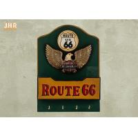 Buy cheap Wood Wall Hanger Antique Envelope Rack Decorative Wall Plaques Pub Sign Wall Decor Route 66 product