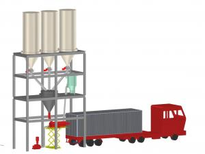Buy cheap SS316L 20ft Bulk Truck Loading System With Screw Conveyor product