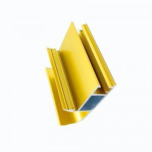 Buy cheap Polish Anodized Aluminum Profiles For Wardrobe / Closet Frame Decorative Edge product