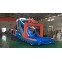 Buy cheap Outdoor sport games obstacle inflatable obstacle course adult for team building from wholesalers