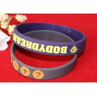 Buy cheap Soft Custom Silicone Rubber Wristbands Delicate Debossed Color Filled Logo from wholesalers
