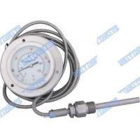 Buy cheap Gas filled Bimetallic Thermometer with capillary , industrial  bimetallic temperature gauge product