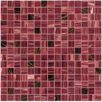 Deep red with gold line glass mosaic mix pattern square mosaic tile