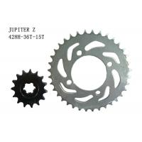 Buy cheap JUPITER Z Motorcycle Sprocket Chain 36T-15T Heat Treatment Surface ISO Approval product