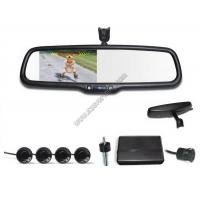 Buy cheap 4.3 inch Rear view mirror Visual parking sensor CRS9437 with Reversing Camera and Sensors product