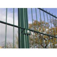 Buy cheap Fully Stocked Double Loop Wire Fencing Green Vinyl Coated Square Shape Mesh from wholesalers