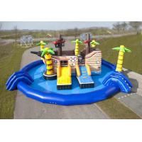 Buy cheap Exciting Inflatable Amusement Park Adventurous Customizable Design With Centre Slide product