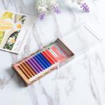 Buy cheap Mixed 4 Colors Full Set Eyelash Extensions , Individual Fake Eyelashes Hand Made product