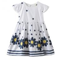 Buy cheap Summer Infant Baby Girl Dresses / Newborn Girl Dresses With Waistband And Prints product