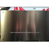 China Hairline Finish 304 Stainless Steel Kick Plate Thickness 1.02mm Laser Cutting on sale