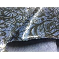 Buy cheap Blue Tpu Leather Bonded With Printed Black Flowers Customized Width product