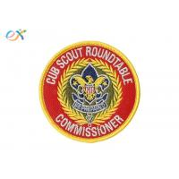 Buy cheap Ryan Thread Boy Scout Patches / Polyester Material Merrow Border Patch For Clothing product