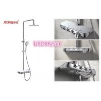Buy cheap AT-P010 luxury bathroom shower set chrome colour 3 functions shower column with bracket Foshan supplier product