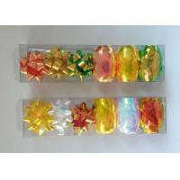 Buy quality PET and Iridescent Gift Wrap Ribbon Set , christmas gift ribbon with star and egg bow at wholesale prices