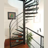 Buy cheap Customized Spiral Stairs Railing Balustrade Spiral Staircase with Glass Steps product