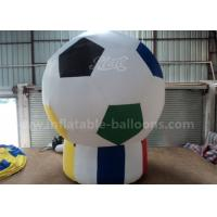 Football Shaped Inflatable Advertising Air Balloons 3m For Sport Game Pvc Tarpaulin Manufactures