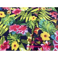 Buy cheap Ink Jet Digital Printing Floral Swimwear Fabric With Customized Pattern from wholesalers