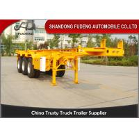 Buy cheap 20ft 40ft Skeletal Container Semi Trailer With Fuwa Brand Axle Spring Suspension product