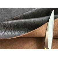 Brown Leather Car Upholstery Fabric With 15% Cotton And 15% Polyester