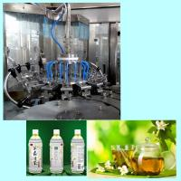 Buy cheap 18 Washing Heads Plastic Bottle Tea Filling And Sealing Machine Easy Operation product