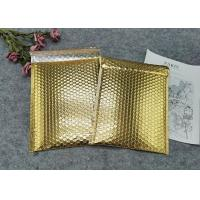 Buy cheap Protective Gold Colored Bubble Wrap Mailing Bags / Poly Bubble Mailers product