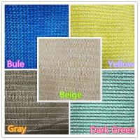 China Construction Area Use PVC Shade Net , Tear Resistant Breathable Mesh Fabric on sale