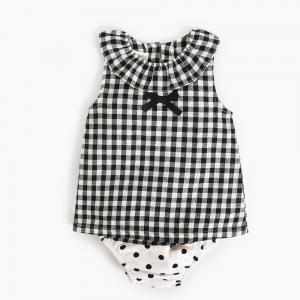 Girl 2 Piece Newborn Clothes Set / Ruffle Cotton Baby Clothes Single Dress