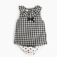 Quality Girl 2 Piece Newborn Clothes Set / Ruffle Cotton Baby Clothes Single Dress for sale