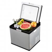 Buy cheap 28L Portable Car Cooler Fridge With Trolley Handle And Anti - Vibration Design product