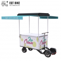 Buy cheap EQT 138 Liters Soft Ice Cream Bikes For Sale Freezer Cart Summer Holiday Cargo Freezer Bike Vending Ice Cream Electric product
