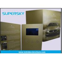Buy cheap Rechargeable LCD Video Brochure , Video In Print Brochure For Advertising product
