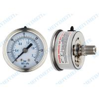 Buy cheap Movement sealing 63mm back stainless steel pressure gauge with crimp bezel product