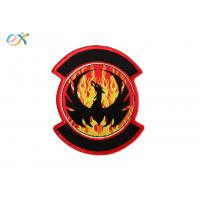 Buy cheap Twill Background Embroidered Fabric Patches , Motorcycle Leather Vest Patches product