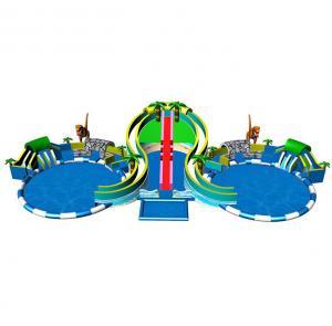 Buy cheap Dinosaur Theme Inflatable Amusement Equipment Park Auatic Dual Kds Pools product