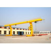 China Container Single Beam Gantry Crane 10 Ton L Shape For Workstation Yello Blue on sale