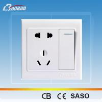 LK4018- A 1gang+ 2pole + 3pin PC flush type wall socket