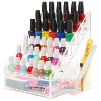 Buy cheap 6 Tiers Acrylic Nail Polish Stand Shelving Customized Transparent 200Pcs product