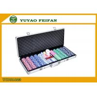 High Value Beautiful 500 Piece Poker Chips Sets For Gambling / Home Manufactures