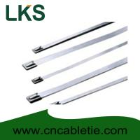 Buy cheap 4.6*200mm 316 grade Ball-lock stainless steel self-locking cable management product