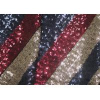 Buy cheap Multi-Color Embroidered Shiny Sequin Fabric Azo Free For Evening Dress Designer product