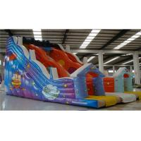 Buy cheap Kids Commercial Inflatable Slide , Obstacle Course Water Slide Cartoon Printing product