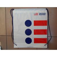 Buy cheap Clothing Plastic Drawstring Backpack Promotional For Shopping / Sports product