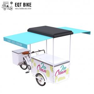Buy cheap Refrigerator Adult Tricycle Ice Cream Cart Open Body Type product