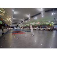 Quality Shot Blasting Prefabricated Steel Structures With Coated Wire Mesh Interior Roof for sale