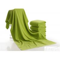 Luxury Bath Towels Green Color , Beach Hotel Bath Towels Durable