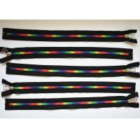 Buy cheap Plastic Type Sewing Notions Zippers , rainbow teeth multi colored zipperr for garment product